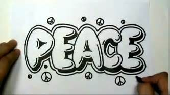 how to draw peace in graffiti letters write peace in