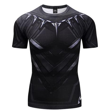 Kaos 3d Panther 1 Big Size Xxlxxxl black panther 3d printed t shirts captain america civil war sleeve