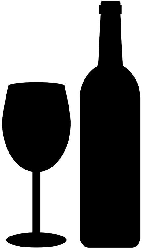 wine silhouette wine bottle and glass silhouette free vector silhouettes
