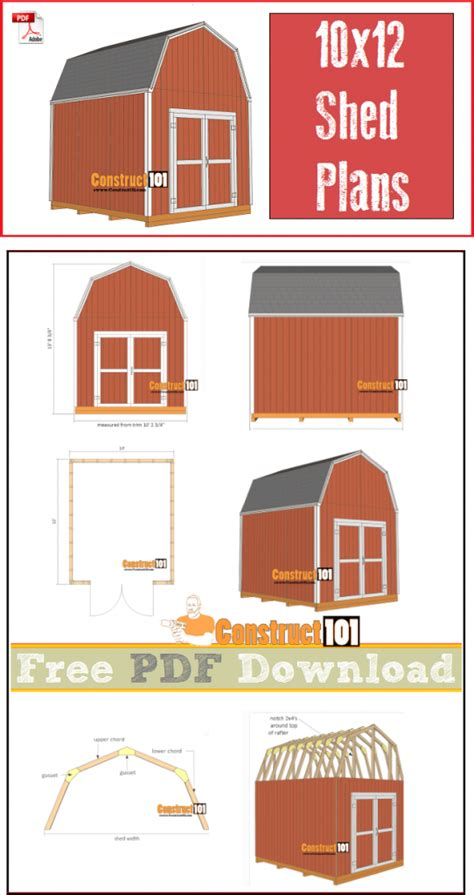 10×12 Gambrel Shed Plans