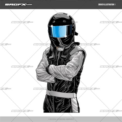 Race Car Driver Drawing