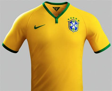 patch s brazil 2014 world cup home kit released