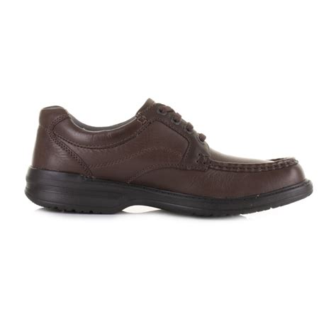 mens clarks keeler walk brown leather lace up casual