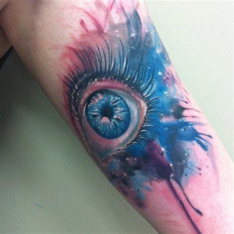 watercolor tattoo eye artist mel wink combines realism and watercolor