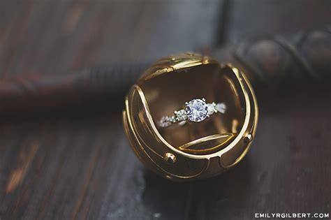 golden snitch ring box hogsmeade proposal emilyrgilbert com my photos couples
