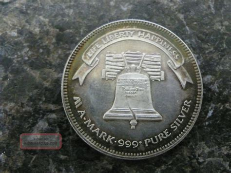 1 Troy Ounce Silver 999 Coin Liberty - silver 1985 liberty silver coin one troy ounce 999