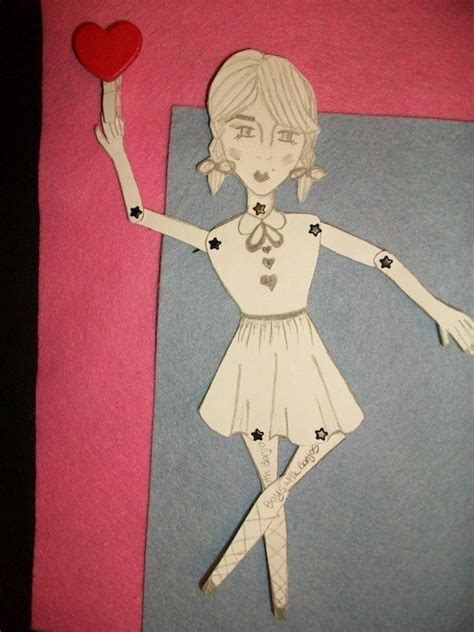 Make Your Own Paper Doll - you can make your own moveable paper doll with plain