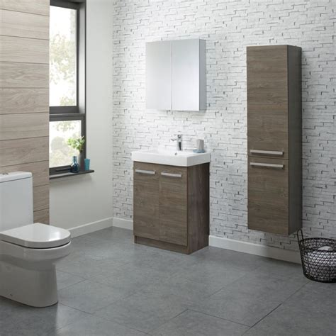 Ninety 600 Freestanding Unit Dark Chestnut R2 Bathrooms R2 Bathroom Furniture