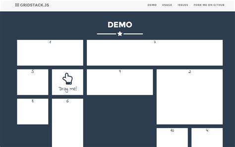 javascript bootstrap layout builder build drag and drop multi column grids gridstack js