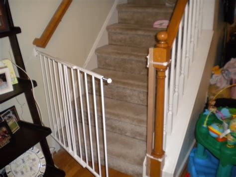 baby gate for top of stairs with banister and wall baby gate for stairs with banister diy best baby gates