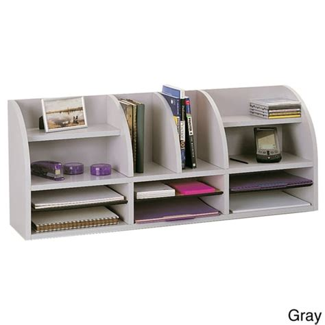 Desk Organization Products Safco Radius Front Desktop Organizer 9 75 X 38 5 X 15 25
