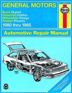 small engine service manuals 1989 buick skylark transmission control haynes repair manual for general motors 1980 thru 1985