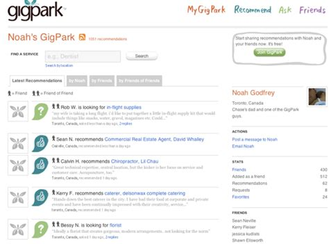 Canpages Search Canpages Bets On Social Recommendations Buys Gigpark Techcrunch
