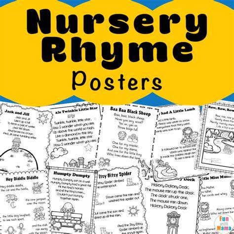 printable nursery poster nursery rhymes printables posters fun with mama