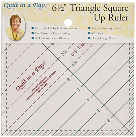 Quilt In A Day Ruler by Quilt In A Day 6 1 2 Inch By 6 1 2 Inch Triangle Square Up