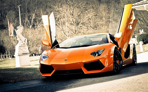 Lamborghini Aventador In Orange Orange Lamborghini Aventador Hd Wallpapers