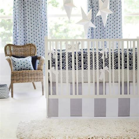 Grey And Navy Crib Bedding by Navy And Gray Crib Bedding I New Arrivals Inc
