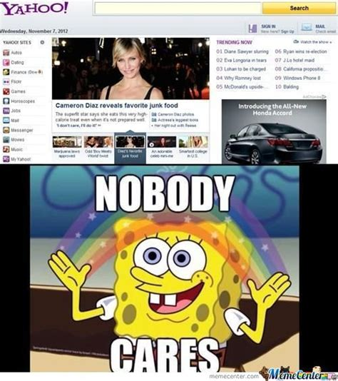 Nobody Cares Meme - spongebob meme nobody cares