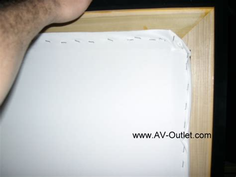 diy projection screen material diy projection screen frame step 4 attach projecection