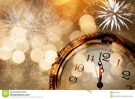 new year vintage greeting cards new year greeting card with vintage clock and