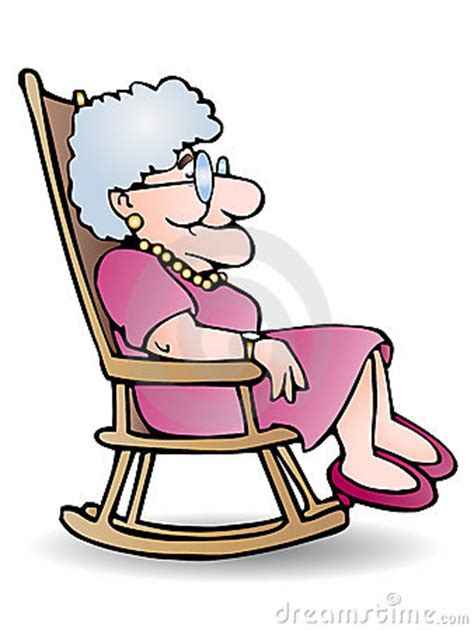 Armchair Exercises Grandmother Rocking Chair Clipart