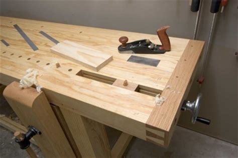 wood working complete workbench vice design