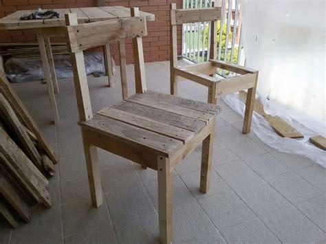 sedie con pallet tavolo con pallet design casa creativa e mobili ispiratori