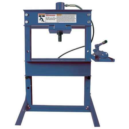 bench hydraulic press westward hydraulic bench shop press 12 tons 1mzj7 zoro com