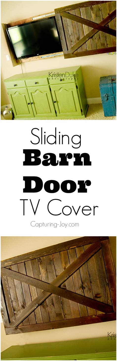 Barn Door Tv Cover Sliding Barn Door Tv Cover Tutorial