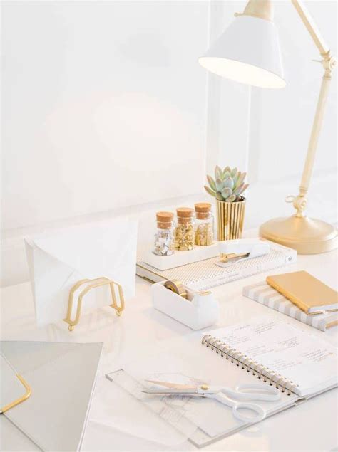 white and gold computer desk 32 best office desk inspiration images on