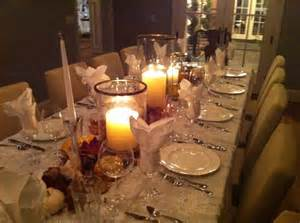the table setting fall dinner party for twelve