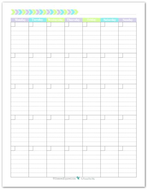 printable calendar template with lines calendar template