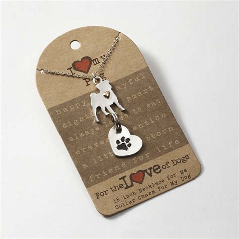 pug necklace uk pug necklace collar charm set 16 inches ebay
