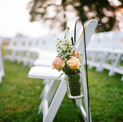 Wedding Aisle With Shepherds Hooks by Alabama Southern Estate Wedding