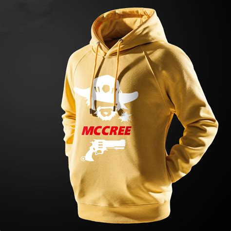 T Shirt Mccree Overwatch Yellow Color Lovely Blizzard Overwatch Mccree Hoodie Black Mens