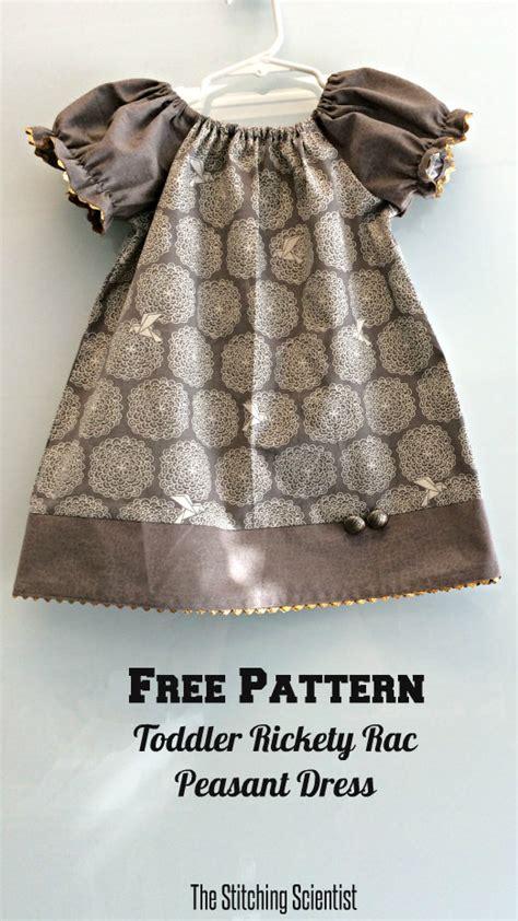 dress pattern toddler free free toddler peasant dress pattern the stitching scientist