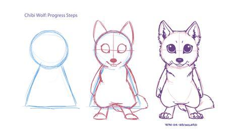 tutorial gambar anime chibi little tutorial chibi wolf by wyn de weynilard on