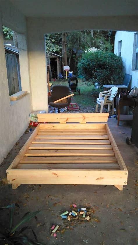 bed diy pallet bed simple bed diy bed frame