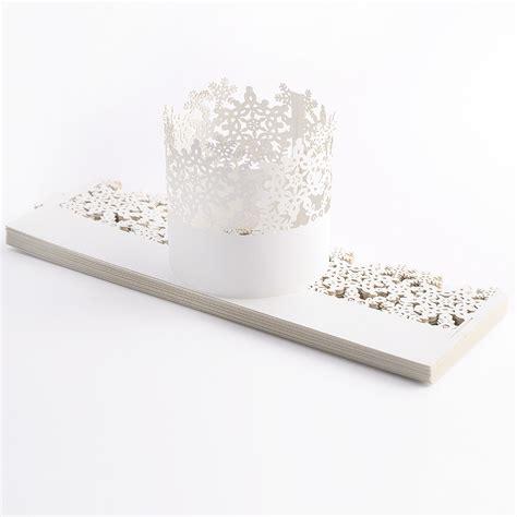 hochzeit kerzenhalter 25x hochzeit deko papier wrapper teelichthalter