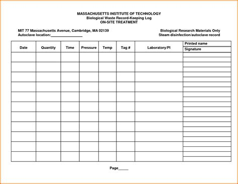 autoclave log template 8 log sheet templatereference letters words reference
