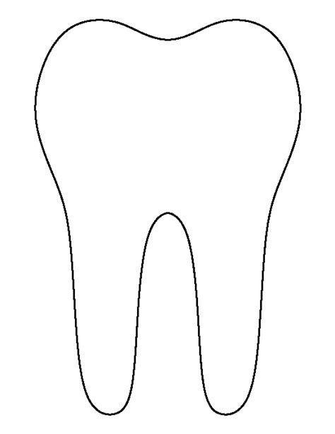 tooth pattern use the printable outline for crafts
