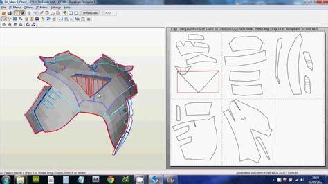 downloading scaling printing files foam pepakura