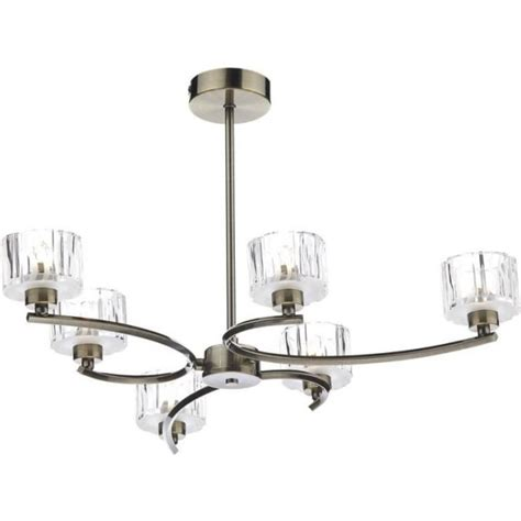 dar lighting lag0675 laguna 6 light modern antique brass