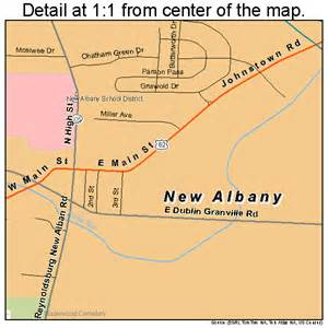 map of albany new albany ohio map 3953970