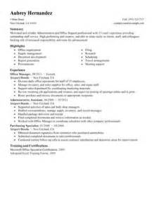 Sles Of Administrative Resumes by Office Administrator Resume Sles Recentresumes