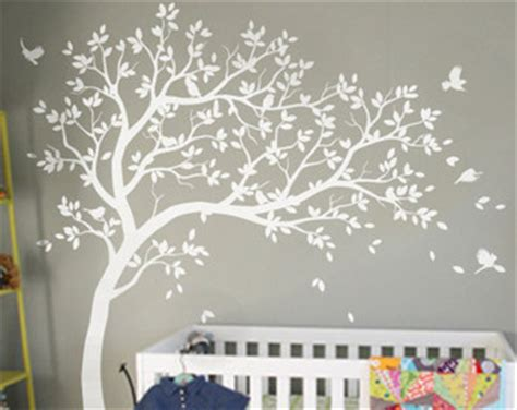 white tree wall sticker tree wall decals etsy
