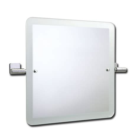 roper glide swivel square mirror with frosted edge