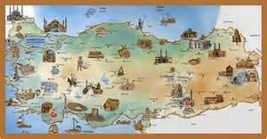travel map of cartoonish map of turkey taşhan turkey mappery