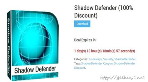 Free License Giveaway - free shadow defender full version license giveaway for all geekiest net