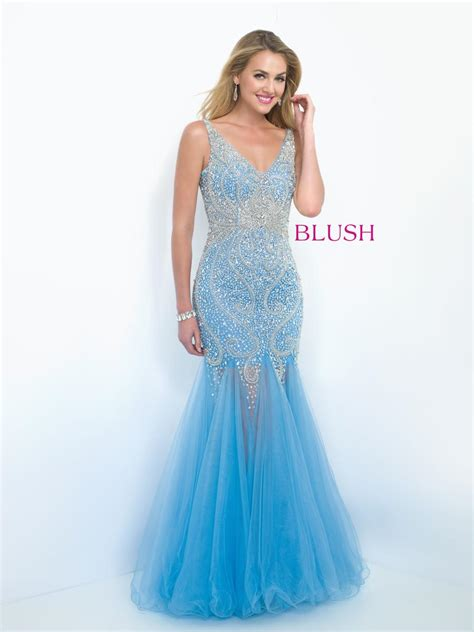 blush 11106 v neck mermaid prom dress french novelty